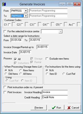 ProStore Auto Invoicing Promentum Ltd Advanced Business Systems - Invoice job description